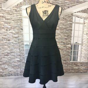 White House Black Market V-neck Black Dress